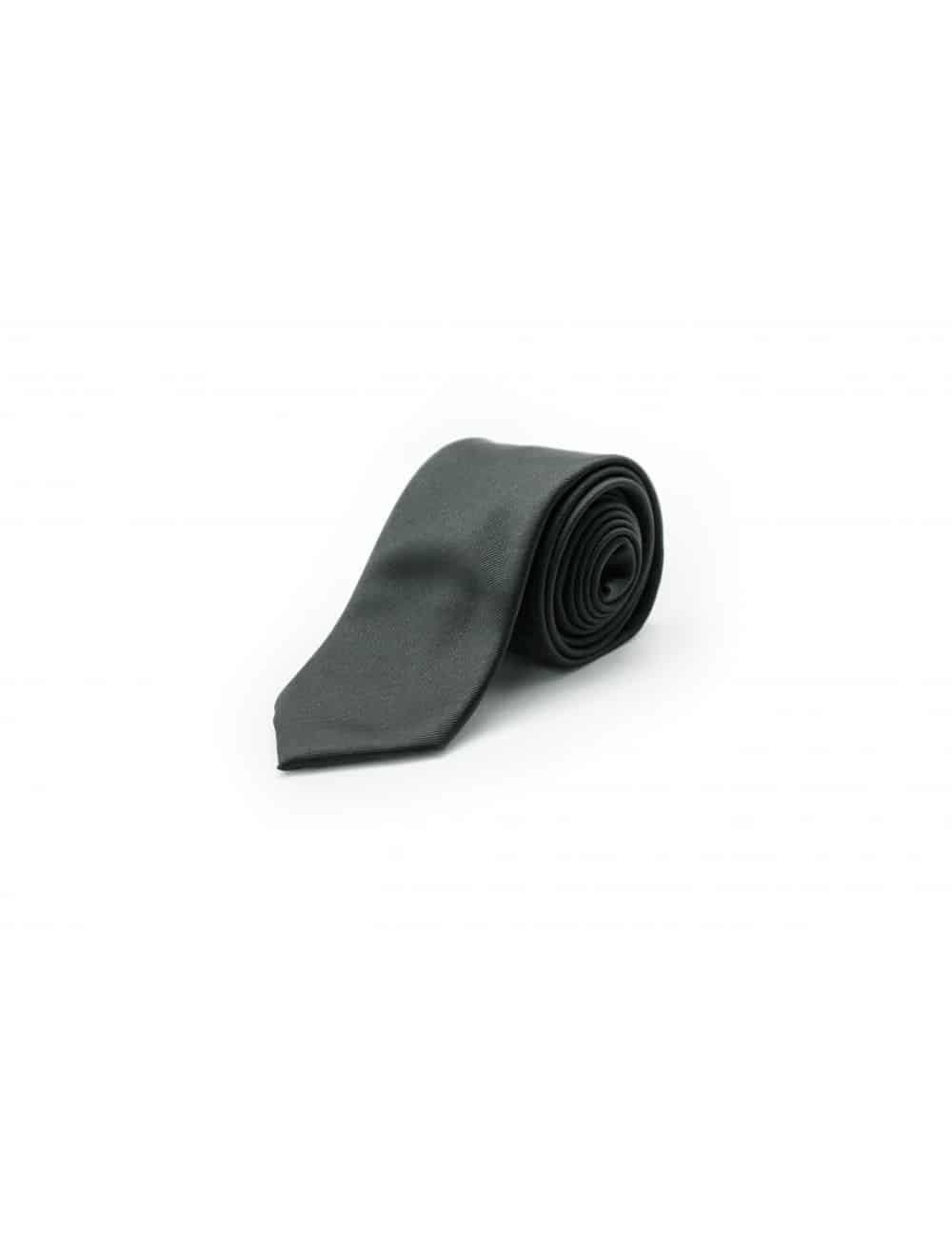 Solid Jet Black Woven Necktie NT4.7
