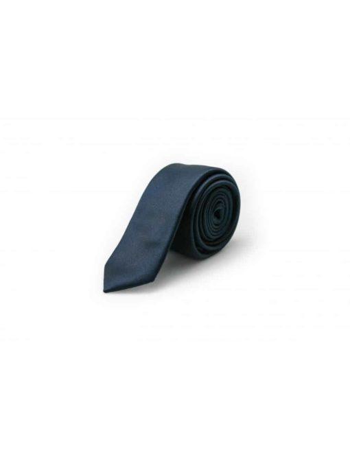Solid Midnight Blue Woven Necktie NT3.7