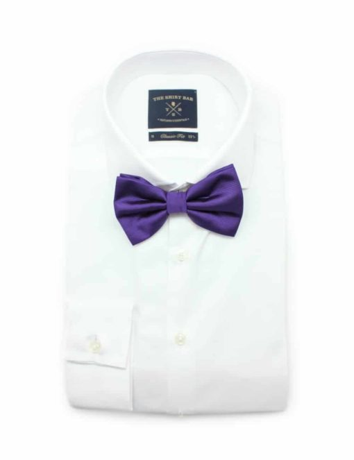 Solid Royal Purple Woven Bowtie WBT13.5