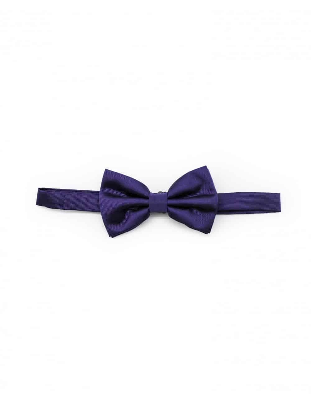 Solid Royal Purple Woven Bowtie WBT13.5