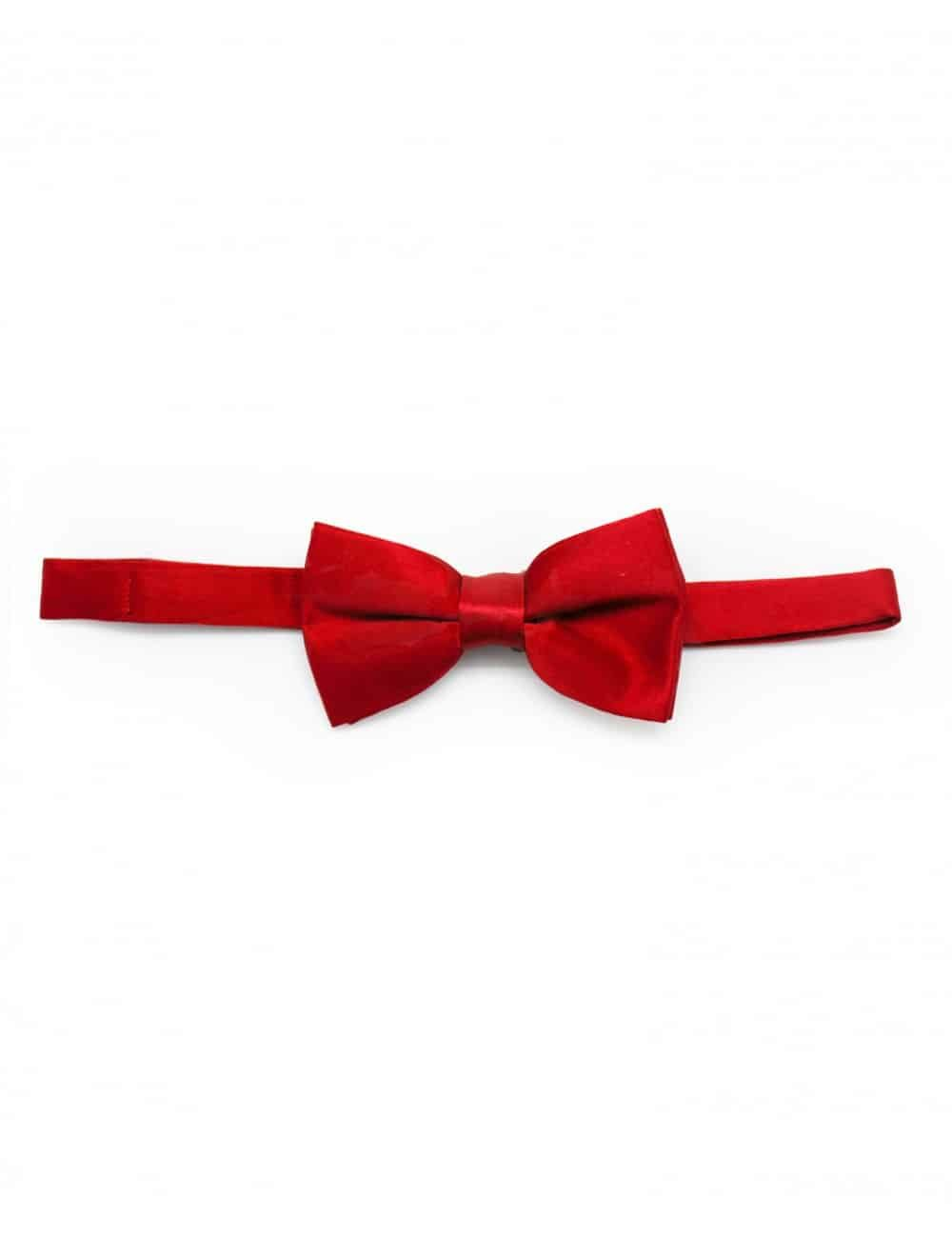 Solid Tango Red Woven Bowtie WBT6.5
