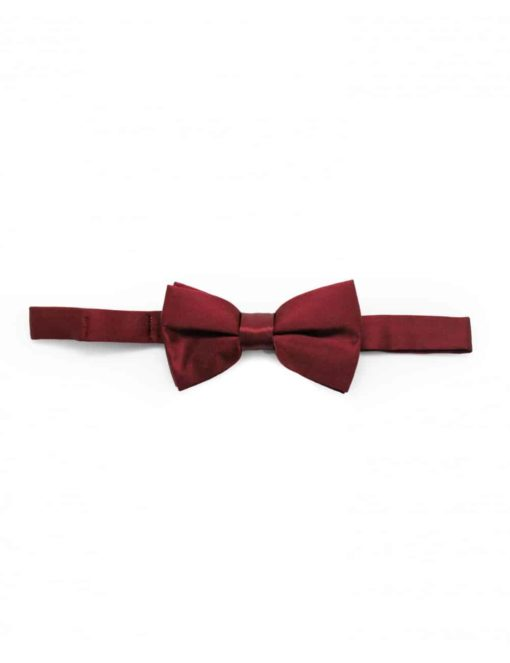 Solid Wine Woven Bowtie WBT2.5