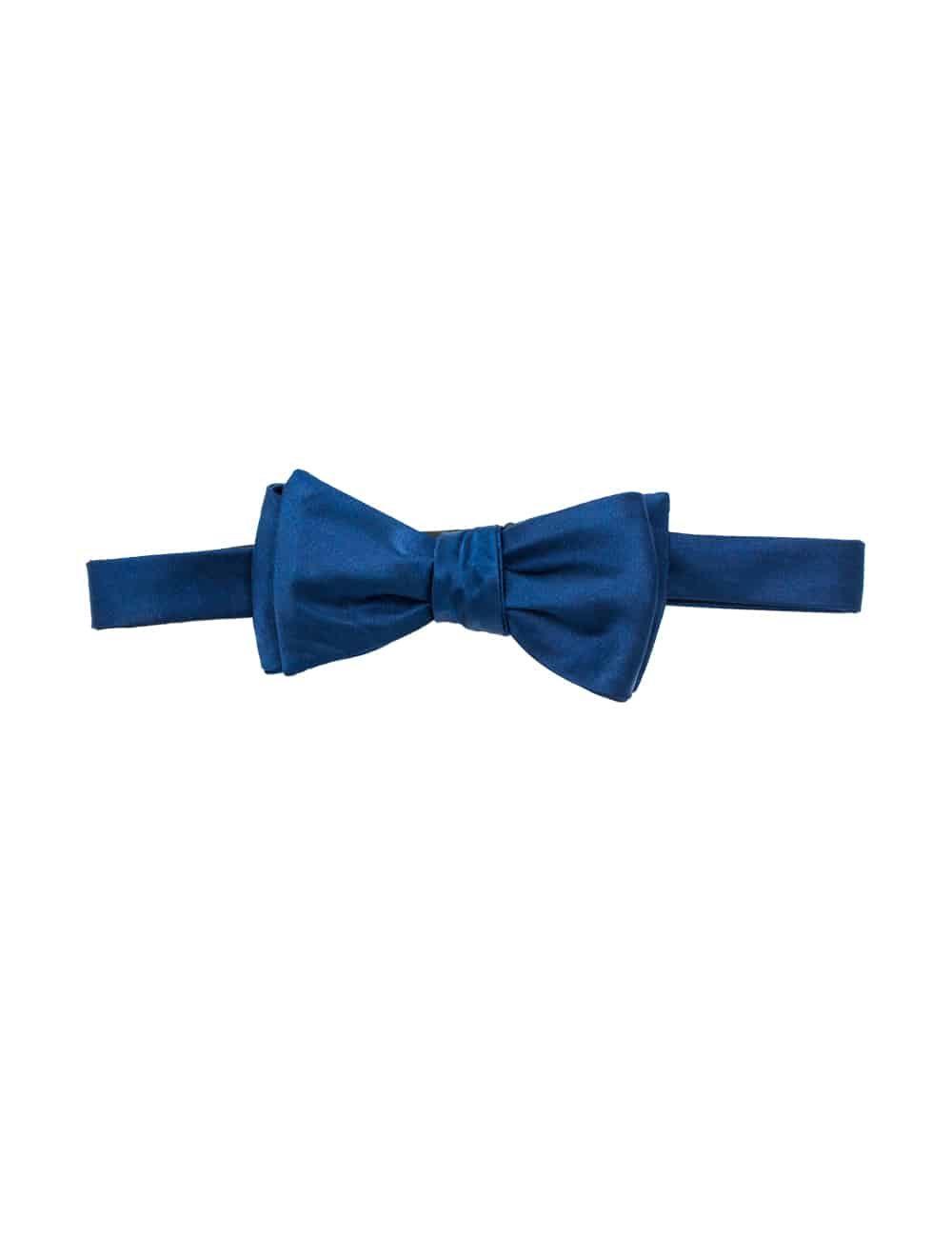 Solid Midnight Blue Woven Self Tie Bowtie WSTBT4.6