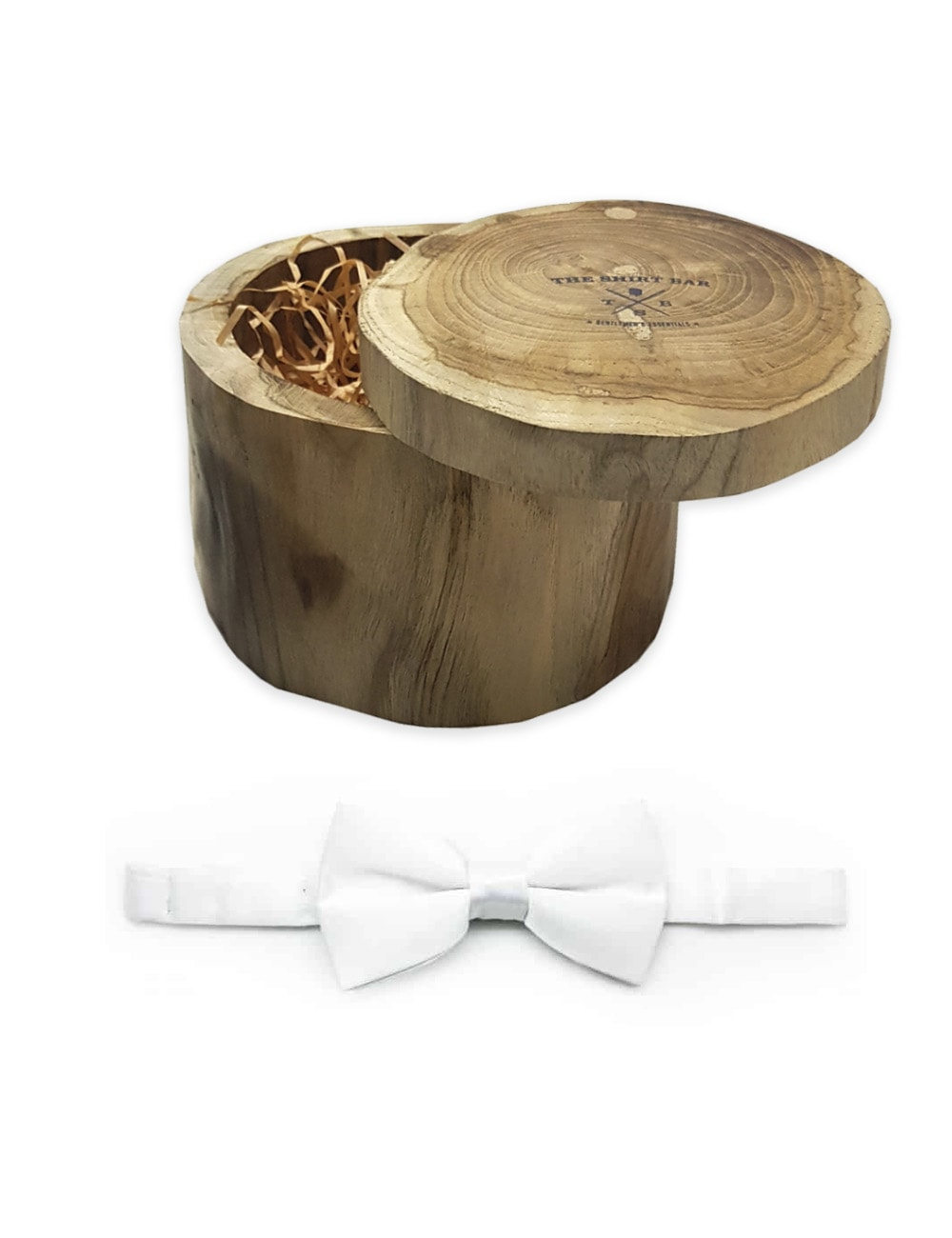 Solid White Woven Bowtie WBT1.5