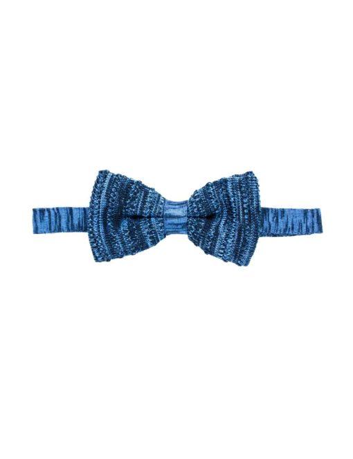 Blue Pattern Knitted Bowtie KBT7.6