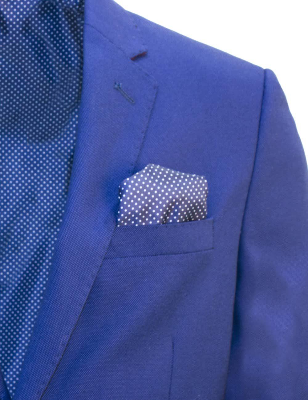 Tailored Fit Dress Blue Single Breasted Blazer B2B3.1