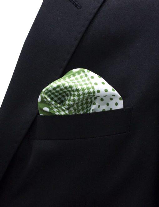 4-in-1 Green Print Pocket Square PSQ18.8