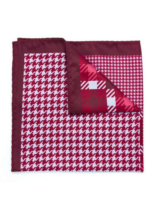 4-in-1 Red Print Pocket Square PSQ32.8