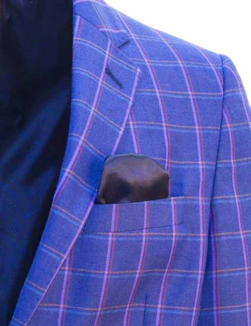 Tailored Fit Ensign Blue Checks Single Breasted Blazer S2B3.2