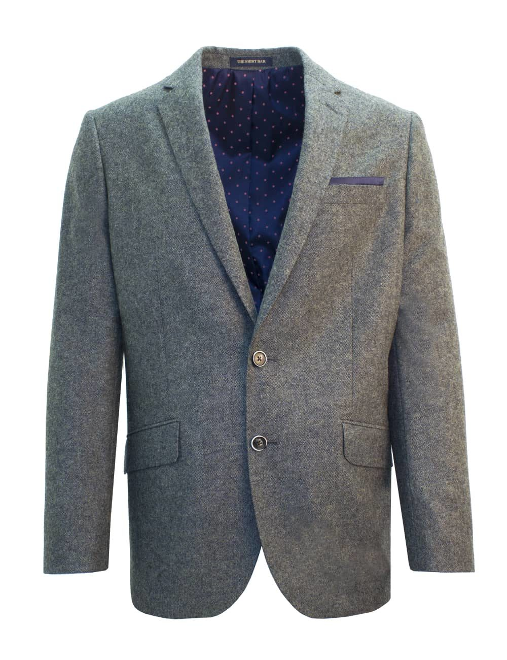 Classic Fit Wool Blend Charcoal Grey Single Breasted Blazer S2B5.2