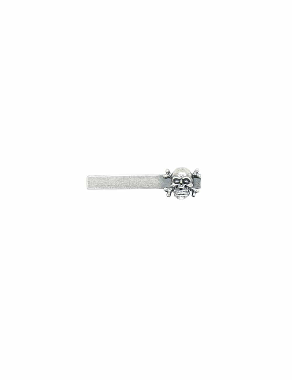 Antique Silver Skulls Tie Clip T231NF-013B