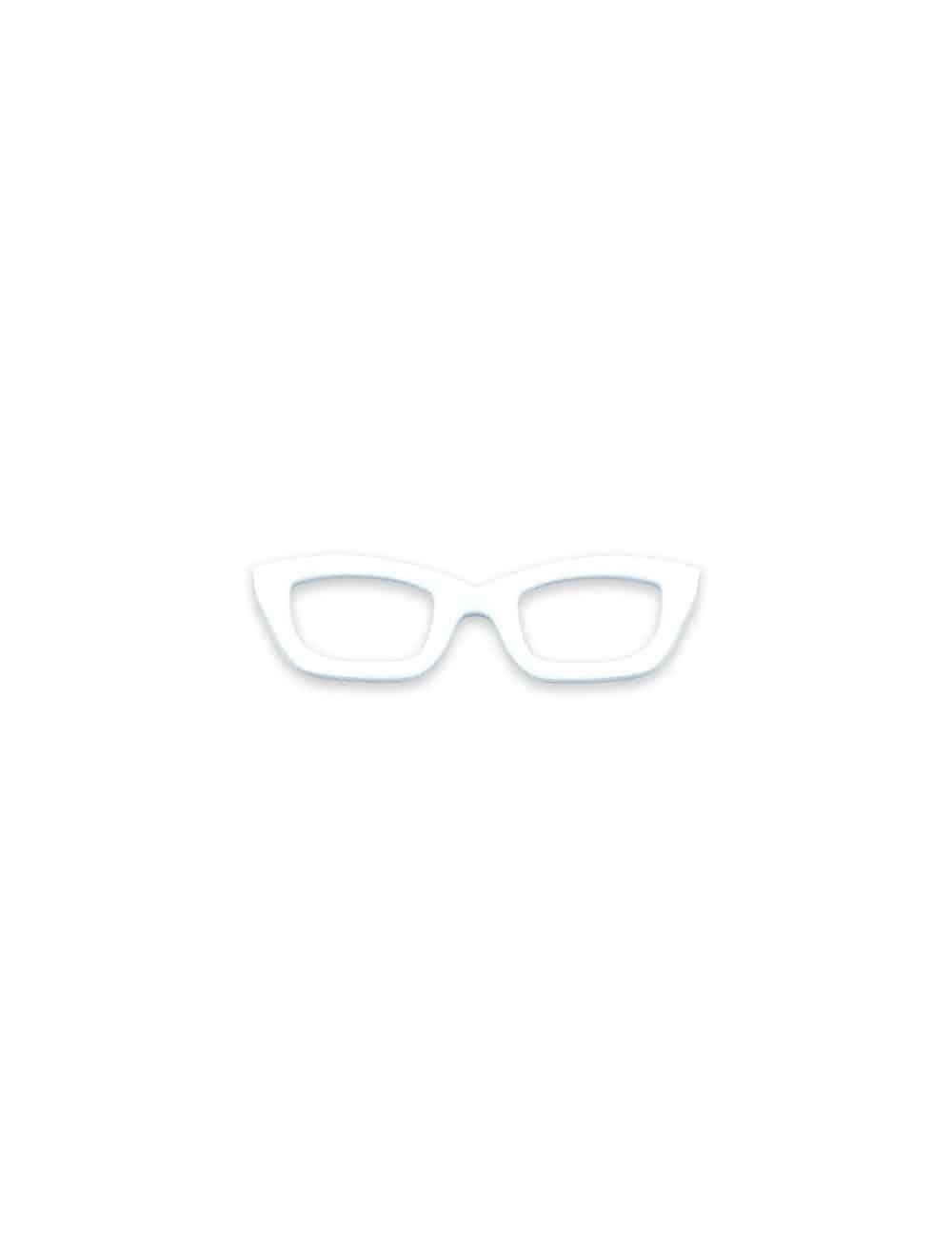 White Frame Spec Tie Clip TC3401-001b