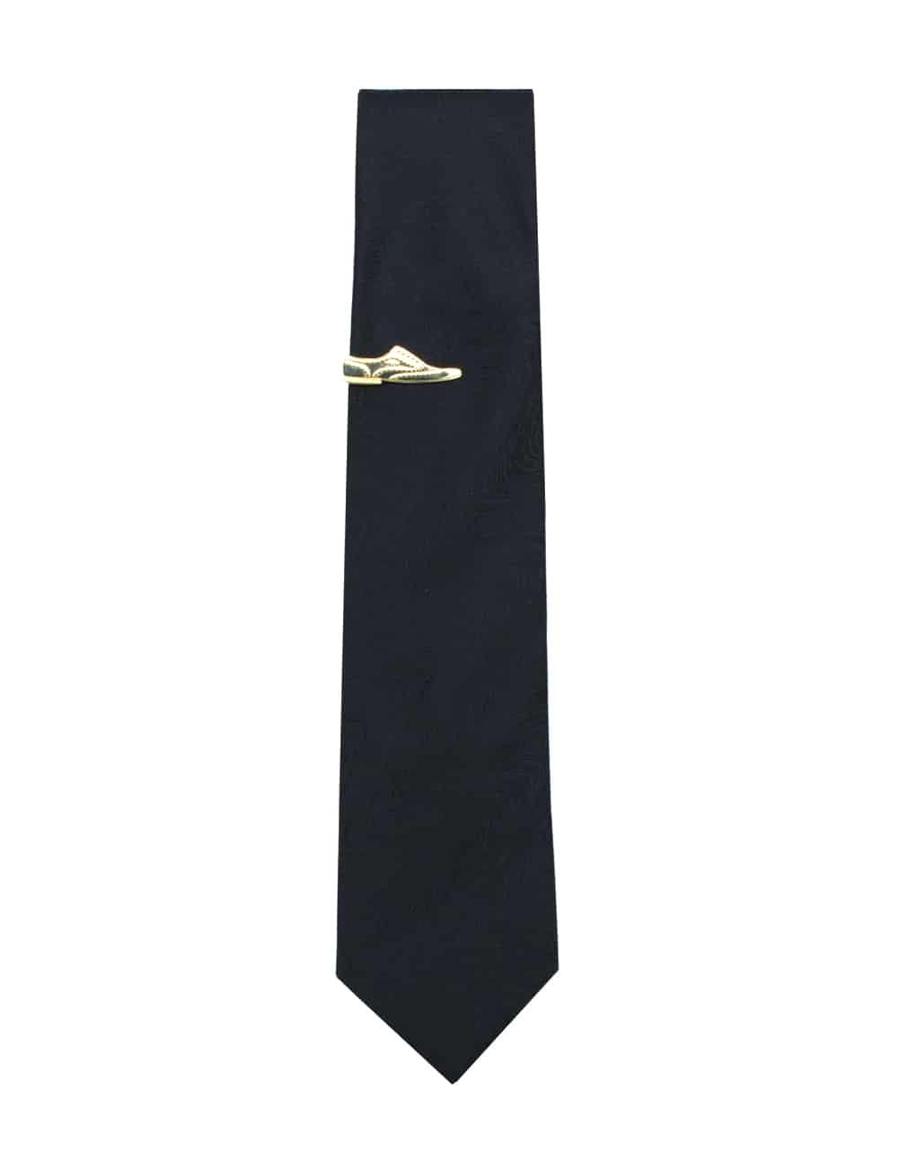 Gold Wingtip Shoe Tie Clip