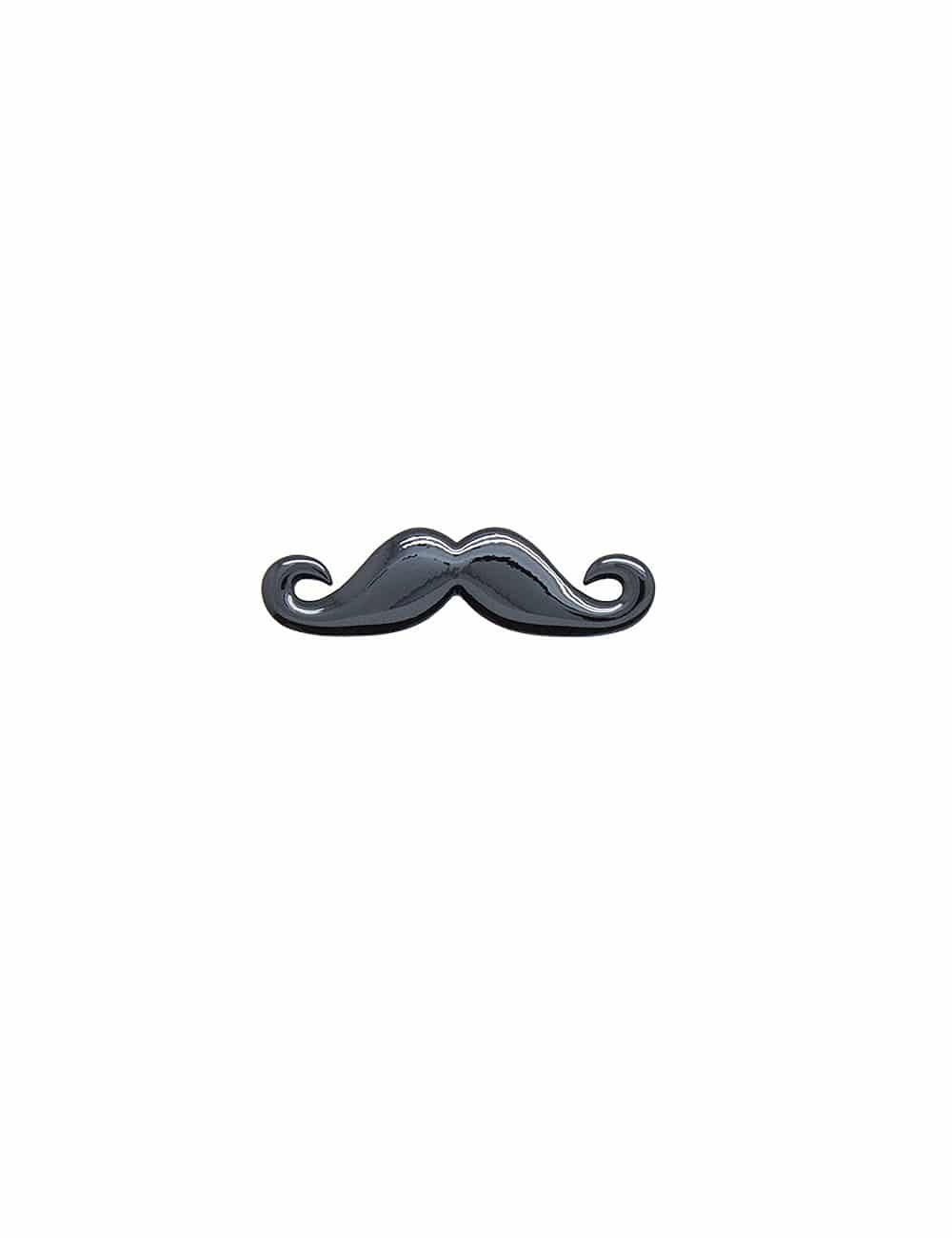 Jet Black Moustache Tie Clip TC3601-005c