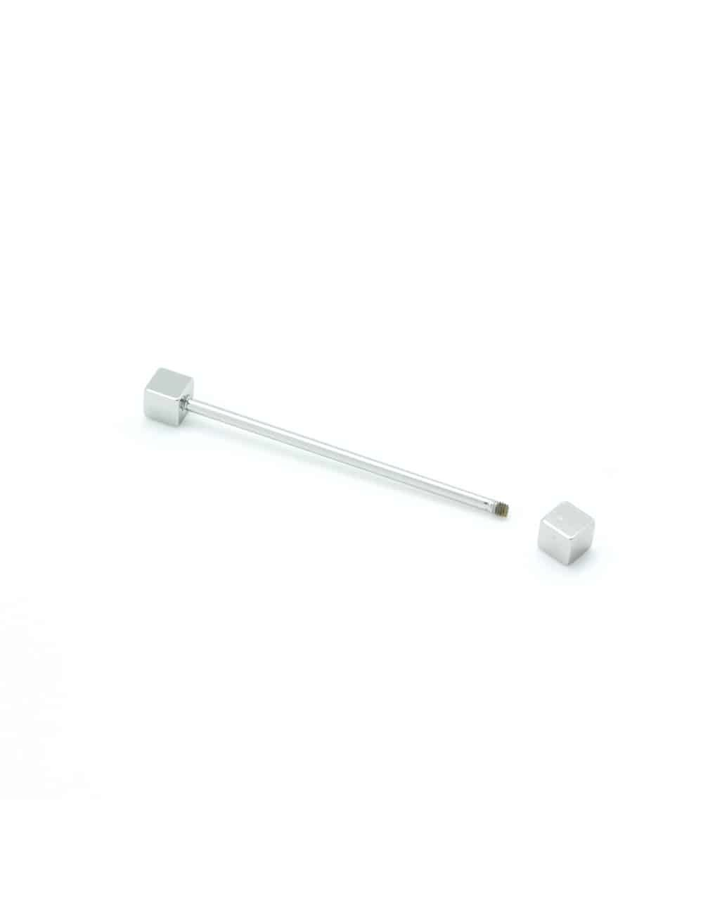 Silver Square Tip Collar Pin CLP2.1
