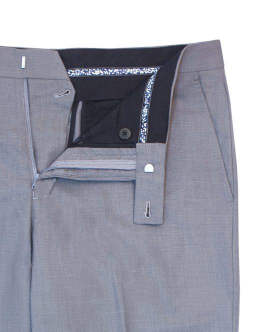 Modern / Classic Fit Brindle Grey Jetsetter Flexi Waist Smart Pocket Dress Pants – DPC1D13.2