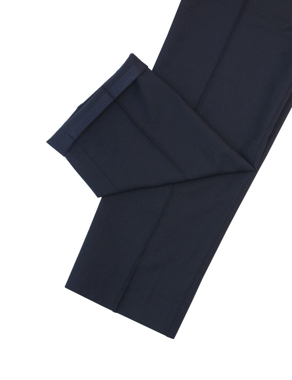 Classic Fit Jetsetter Black 100% Wool Smart Pocket & Flexi-waist Flat Front Dress Pants DPC1E1.2