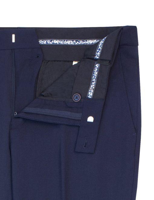 Classic Fit Jetsetter 100% Wool Smart Pocket & Flexi-waist Flat Front Dress Pants DPC1E2.2