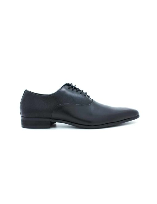 Black Leather Oxford Plain Toe F12A1.3