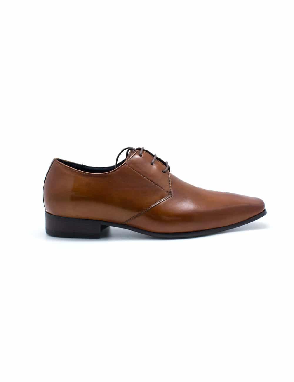 Tan Leather Oxford Plain Toe F12A19.2