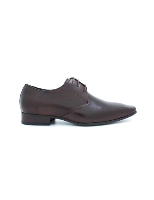 Dark Brown Leather Oxford Plain Toe F12A21.2
