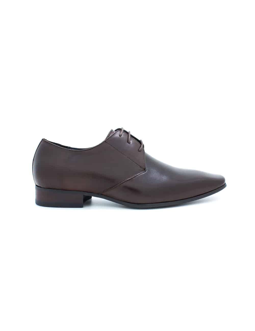 Dark Brown Leather Oxford Plain Toe F12A21.2