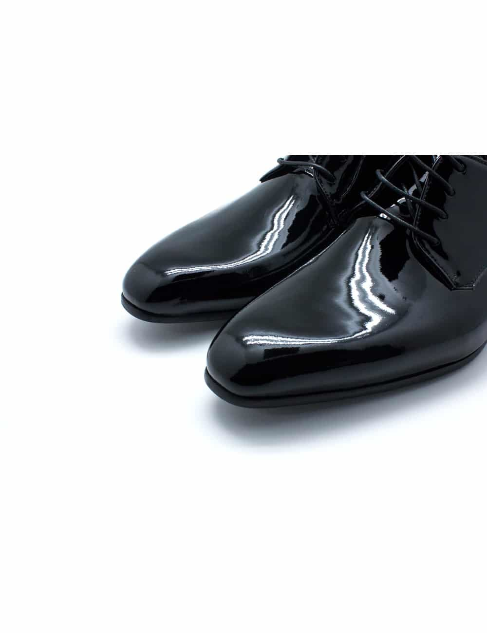 Black Patent Leather Oxford Plain Toe F13A1.2