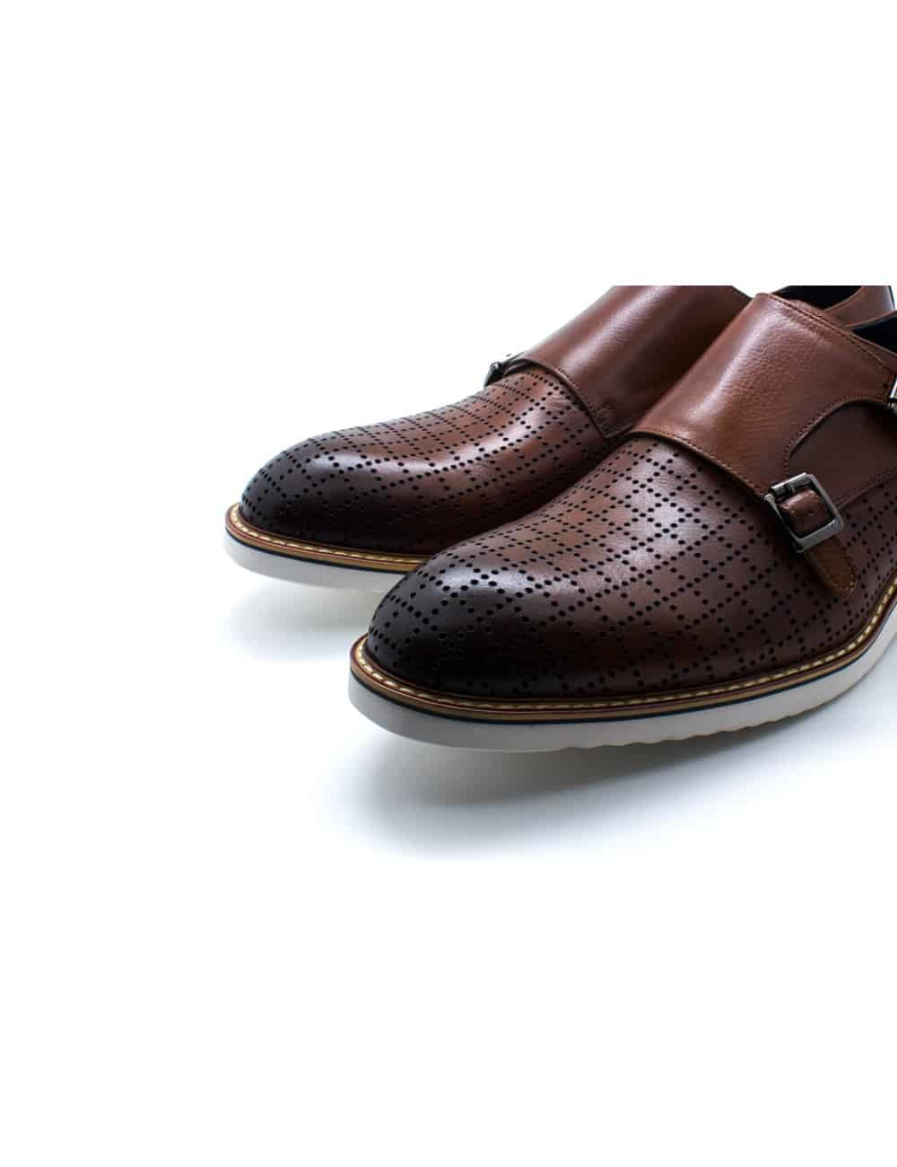 Tan Leather Double Monk Strap F16C19.2