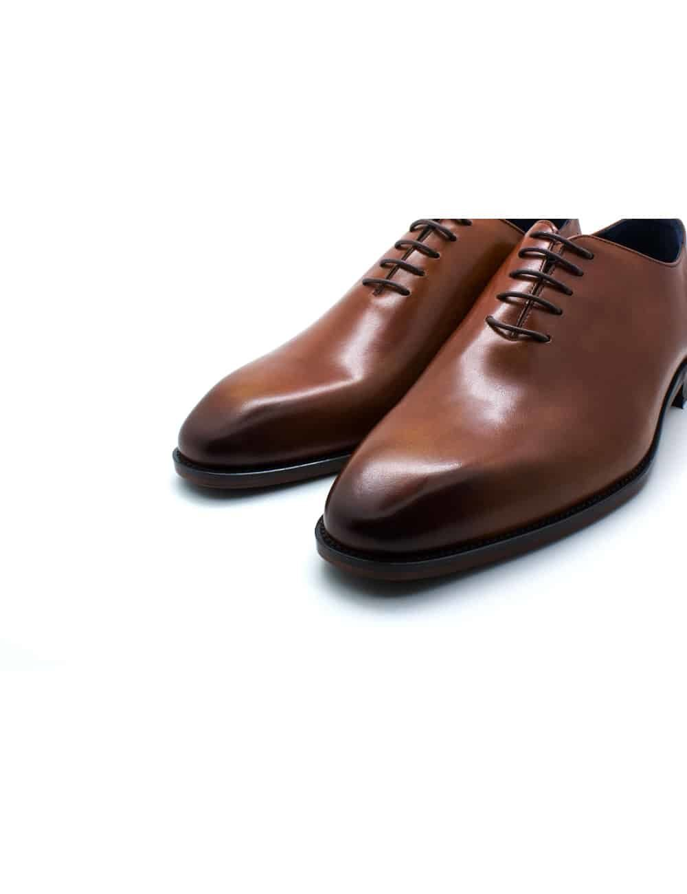 Tan Leather Wholecut Oxford F18A19.3