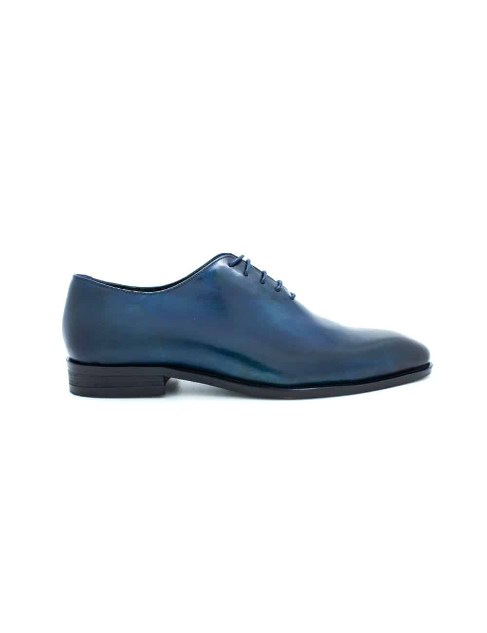 Navy Leather Wholecut Oxford F18A5.3