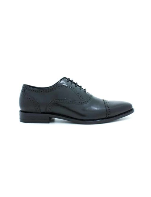 Black Leather Oxford Quarter Brogue F19A1.3