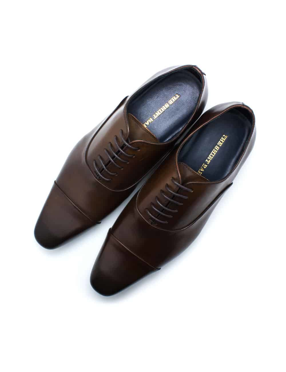 Dark Brown Leather Oxford Cap Toe F1A21.3