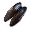 Dark Brown Leather Oxford Cap Toe F1A21.3