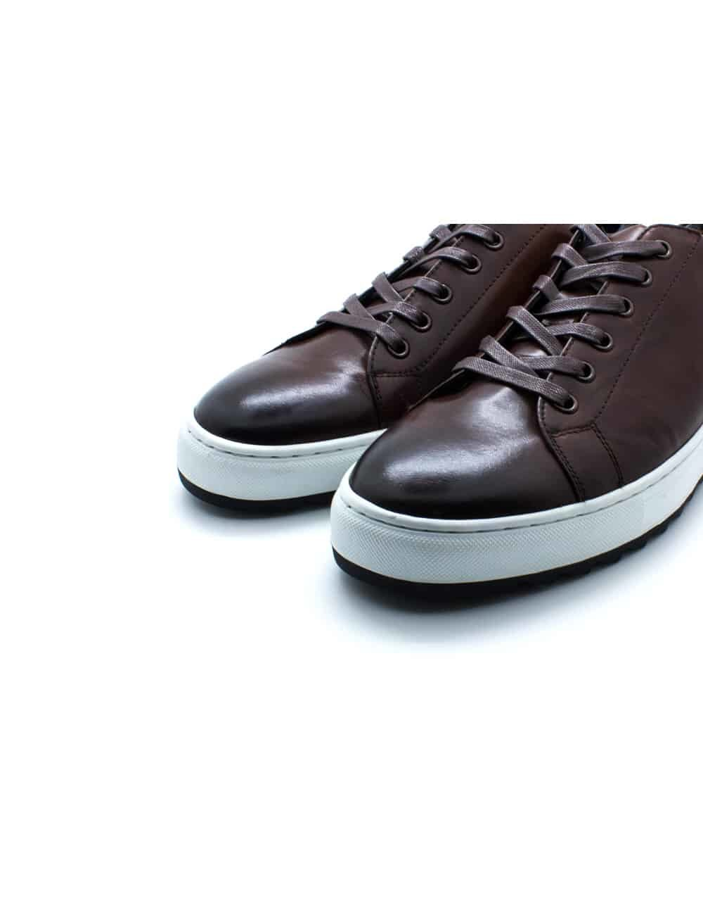 Dark Brown Leather Sneakers F20i21.3