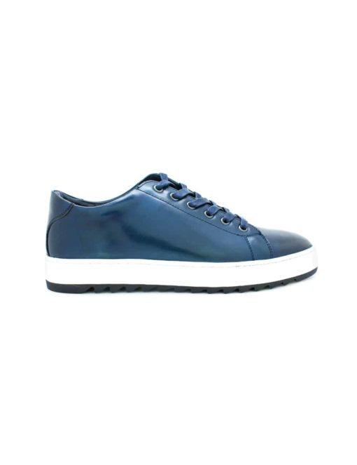 Navy Leather Sneakers F20i5.3