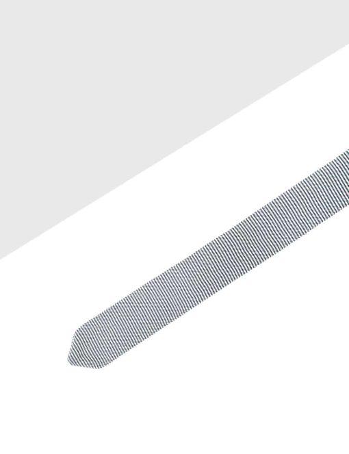 White with Black Zig Zag Knitted Necktie KNT31.8