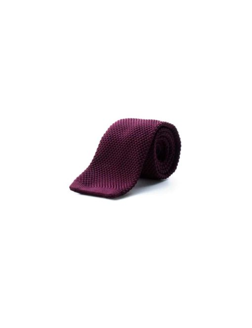 Solid Purple Knitted Necktie KNT65.8