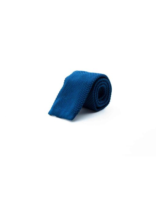 Solid Blue Knitted Necktie KNT66.8
