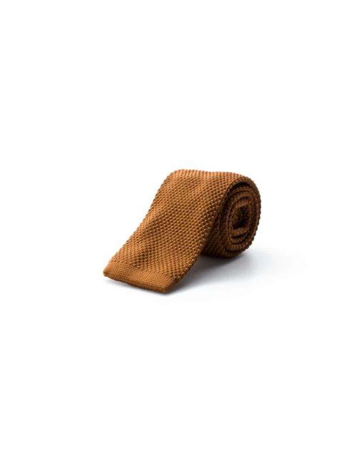 Solid Orange Knitted Necktie KNT68.8
