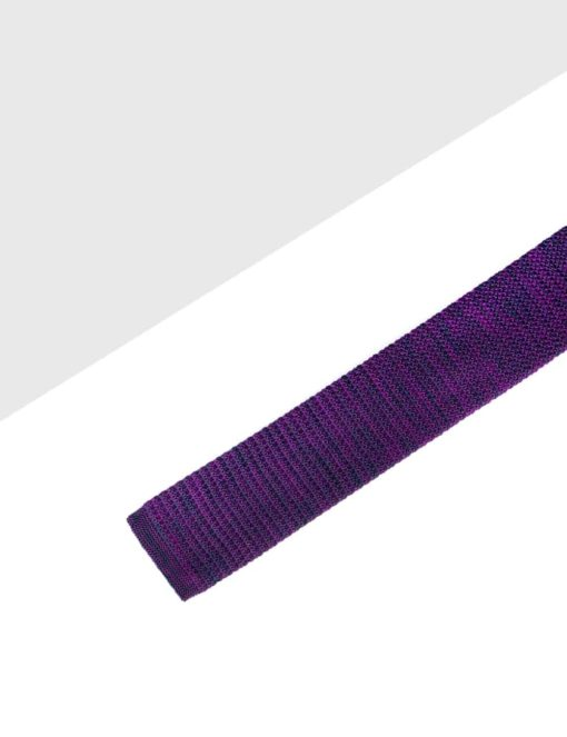 Purple Mixed Knitted Necktie KNT78.8