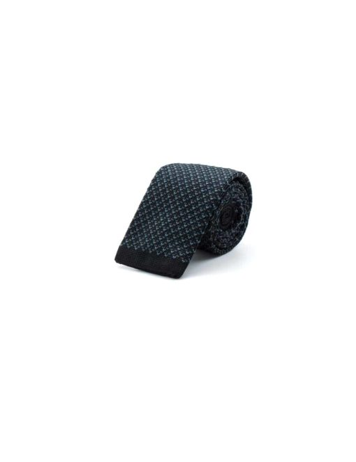 Black Mixed Knitted Necktie KNT79.8