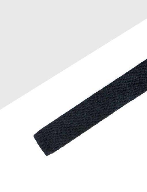 Black Pattern Knitted Necktie KNT83.8