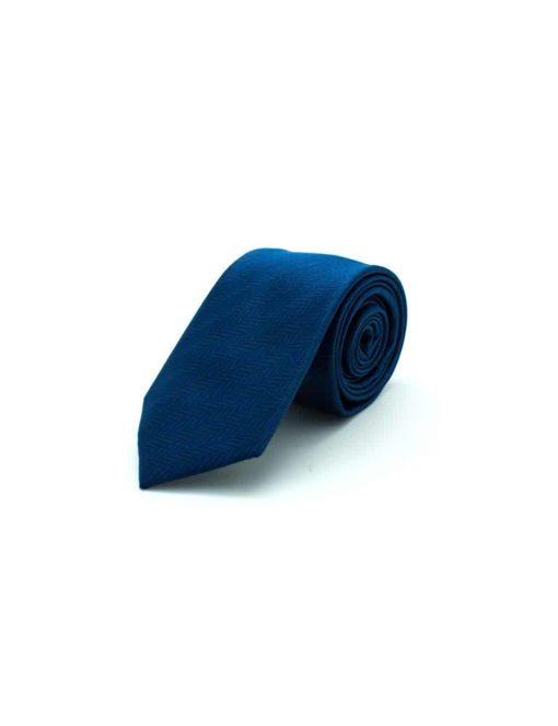 Navy Herringbone Woven Necktie NT21.8