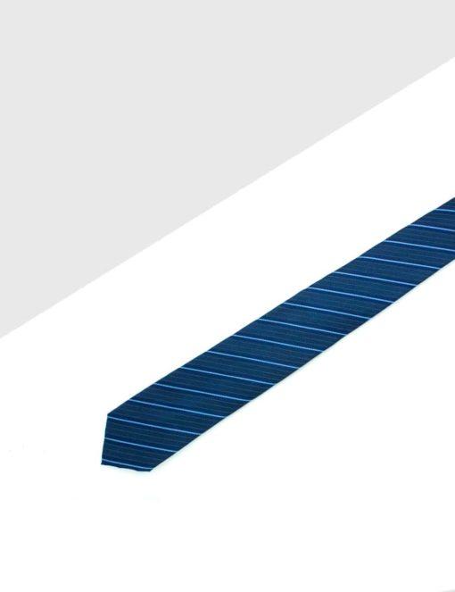 Midnight Blue Stripes Woven Necktie NT25.8