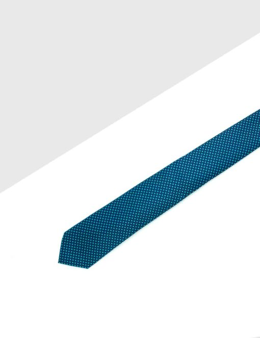 Navy with Blue Pattern Woven Necktie NT42.8