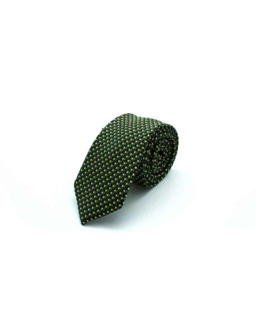 Olive Green Pattern Woven Necktie NT29.8