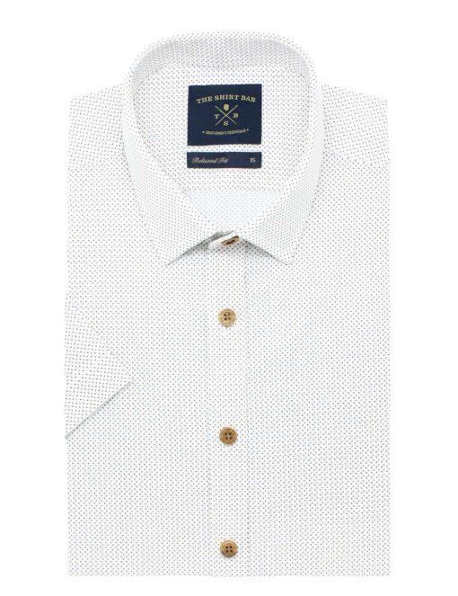RF Brown Print 100% Cotton Short Sleeve Shirt RF31S3.9