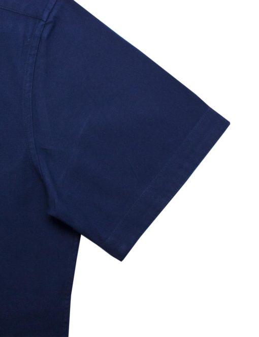 RF Solid Navy 100% Cotton Short Sleeve Shirt RF39S1.9