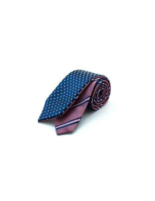 Pink Stripes Reversible Woven Necktie RNT18.8