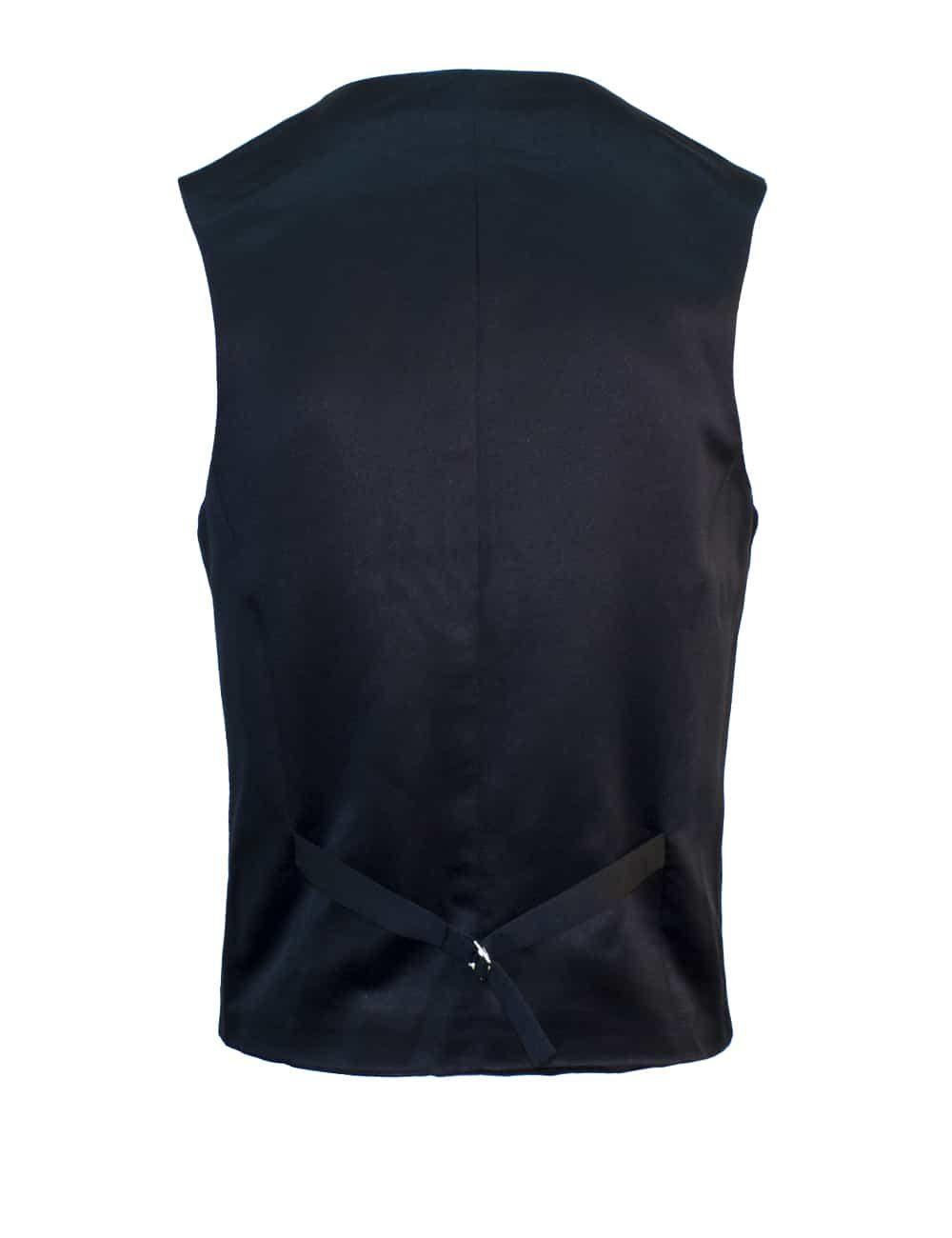 Tailored Fit Black Twill Single Breasted Vest V1V2.2